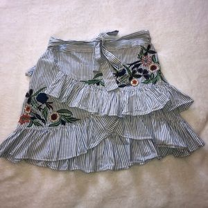Zara ruffled skirt